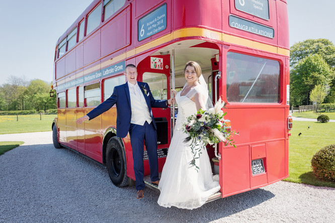 Wedding bus image