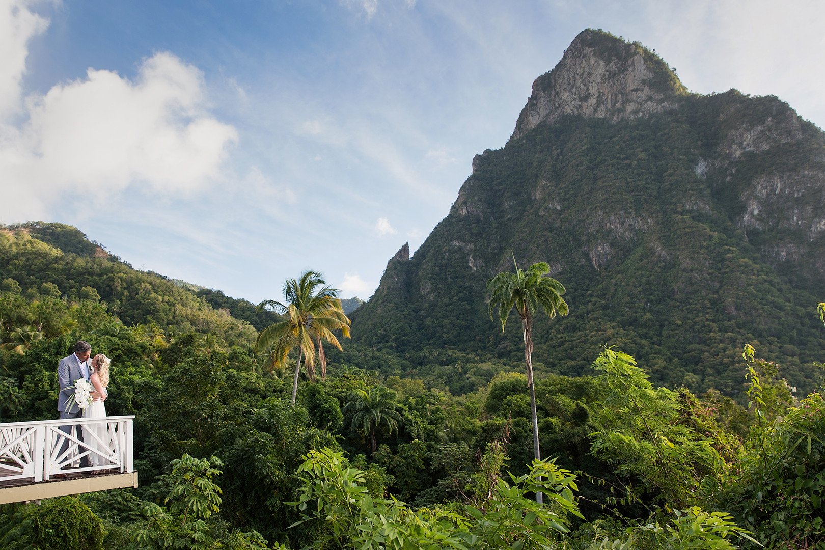 Saint Lucia wedding The Pitons