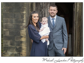 Christening of Elliot at Wortley Church