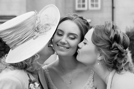 Bride with mum and Sister Photographs