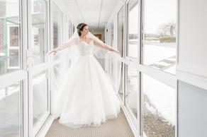 Bride winter wedding Leeds