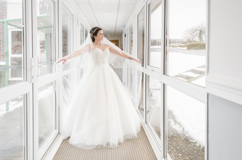 Bride winter wedding Leeds