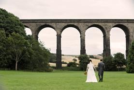 Wedding couple by the bridge - Penistone - Yorkshire