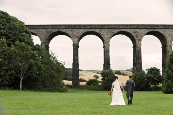 Wedding couple by the bridge - Penistone - Yorkshire