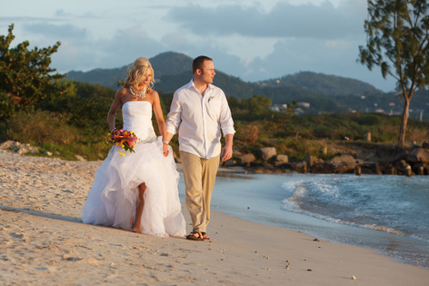 Beach wedding St Lucia