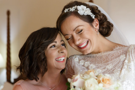 Bride and maid of honour photographs