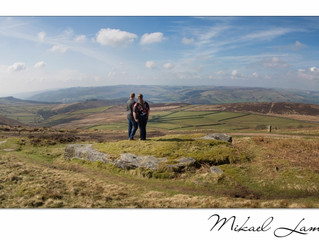 Pre-wedding photo session in the Peak District.