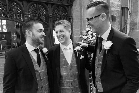 Groom and groomsmen wedding photography