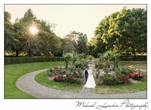 Romantic wedding couple Rossington Hall