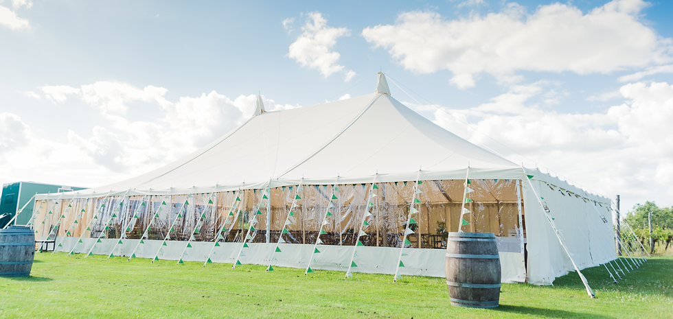 Traditional Canvas Pole Marquee