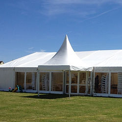Modern Frame Marquee with Chinese Hat entrance Marquee