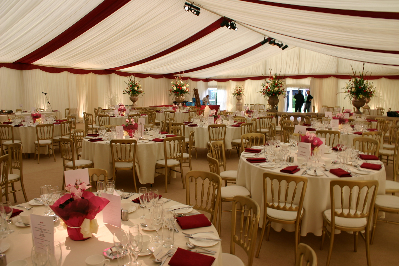 12m-wide-frame-tent-interior-pleated-ivory-linings-burgundy-roof-drapes-and-flat-scalloped-valance