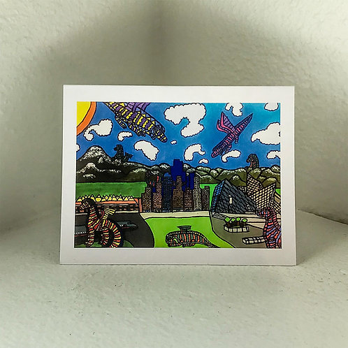 """Greeting Card - """"DIA"""" by Nicole  5.5in x 4in"""