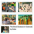 Great Outdoors in Colorado Greetings Cards (4 Pack) by Gabe