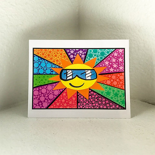 """Greeting Card - """"Sunny"""" by Kenzie  5.5in x 4in"""