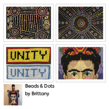Beads & Dots Greetings Cards (4 Pack) by Brittany