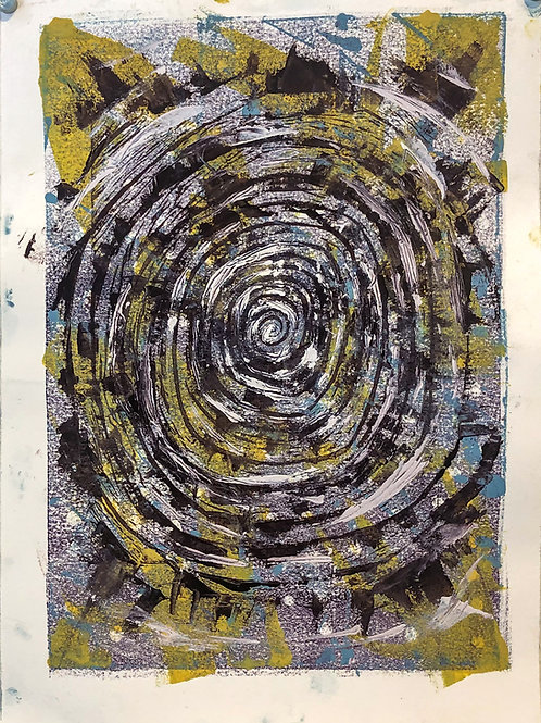 Untitled 3 Monoprint by Jareth 11in x 15in