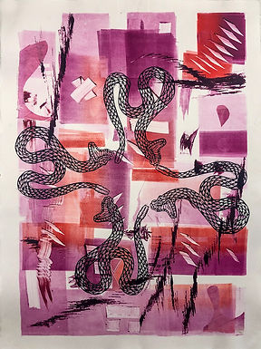 Untitled 16 Monoprint by Javier 21.5in x 28in