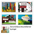 Out and About Around Denver Greetings Cards (4 Pack) by Angel
