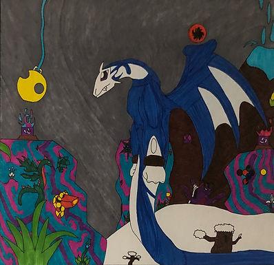 Big Blue by Angel (Framed)