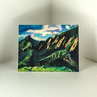 "Greeting Card - ""Flatirons"" by Connor  5.5in x 4in"