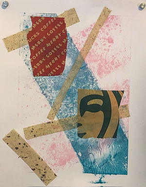 Untitled 2 Monoprint by Connor 11in x 14in