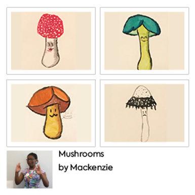 Mushrooms Greetings Cards (4 Pack) by Mackenzie