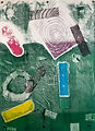 Untitled 22 Monoprint by Jareth  21.5in x 29.75in
