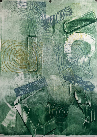 Untitled 19 Monoprint by Jareth 21in x 30in
