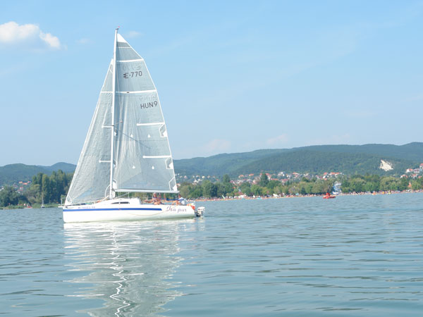 Sailing in Balaton