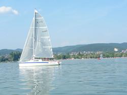 Sailing in Balaton