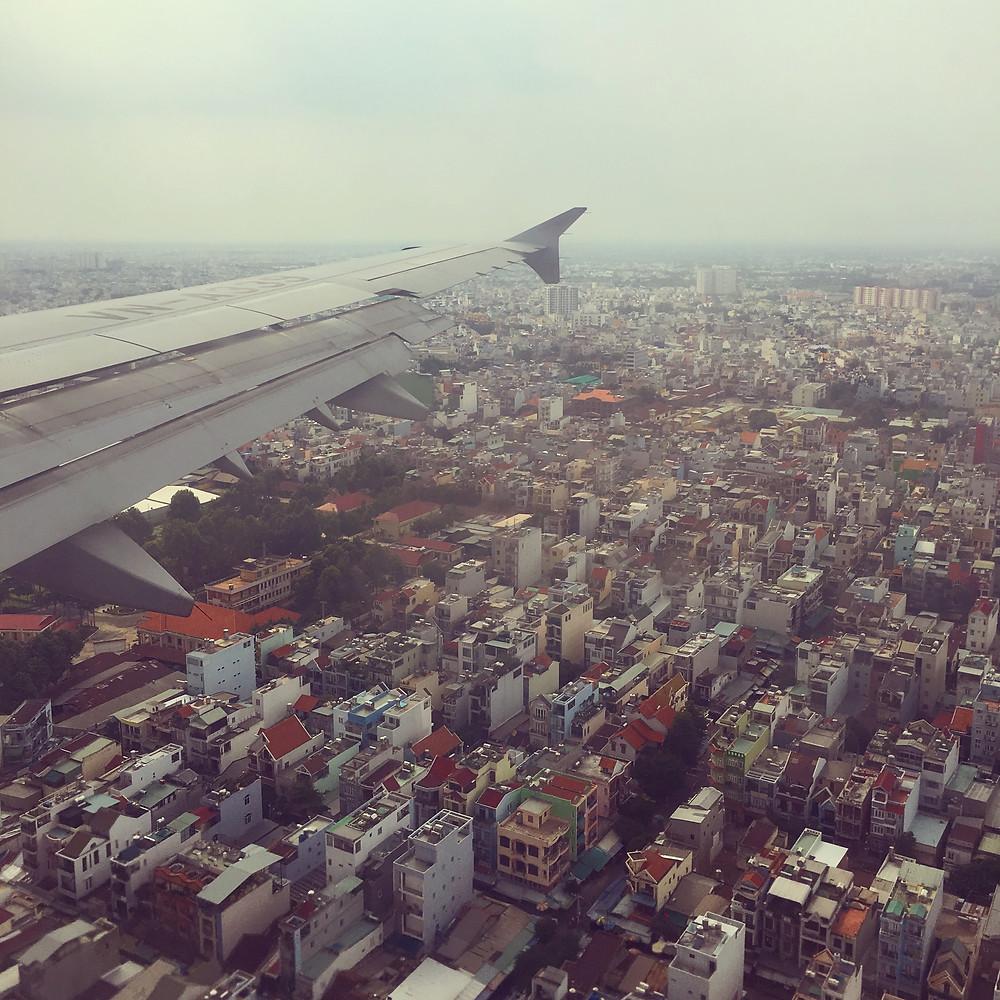 Vietnam Airlines over HCM