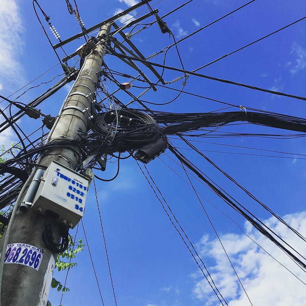 Utility pole in Saigon's District 2