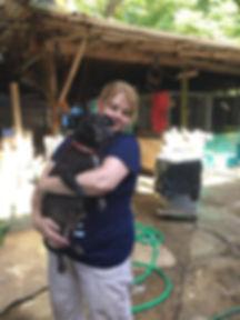 Jen Stilwell with SATO Rescue