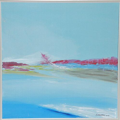 OCEAN BLUE. ACRILICO.50x50