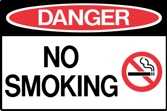 NO SMOKING WITH PICT