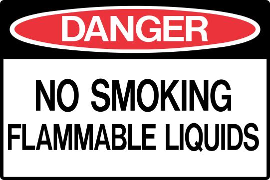 NO SMOKING - FLAMMABLE LIQUIDS