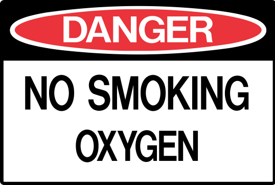 NO SMOKING - OXYGEN