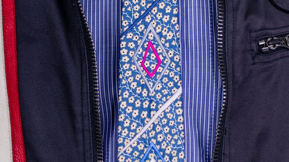 Slate Blue Diamond Tie