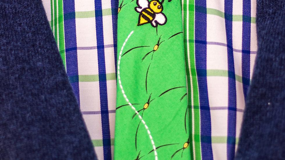 Emerald Bee Tie