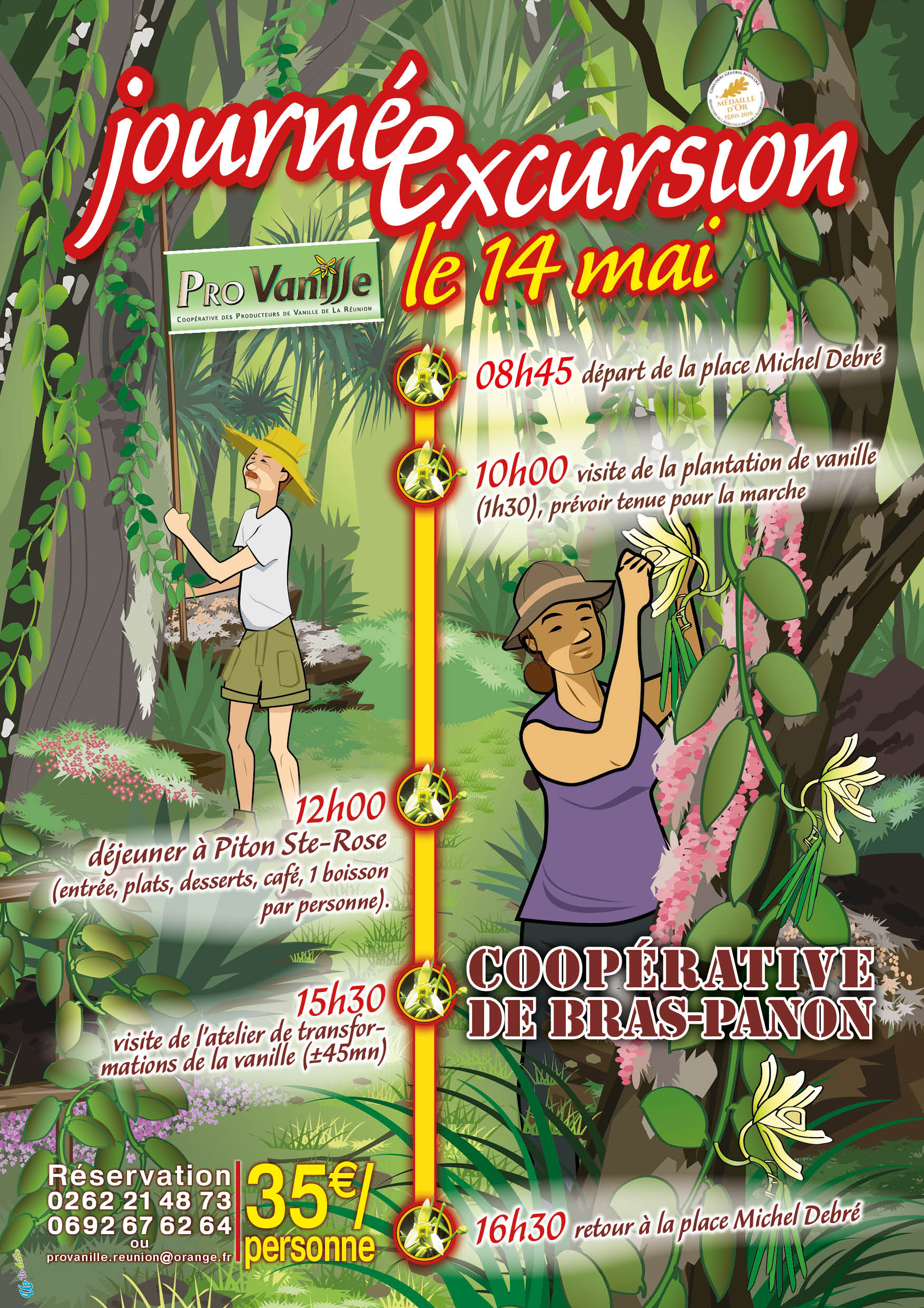Affiche EXCURSION le 10 Mai 2019