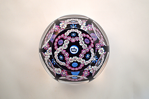 Whitefriars Pre-production Trial Jubilee Garland Paperweight