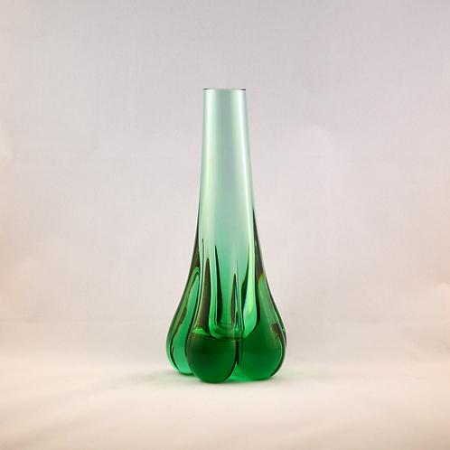 Whitefriars 1978-80 FLC Elephant Foot Vase in Aqua