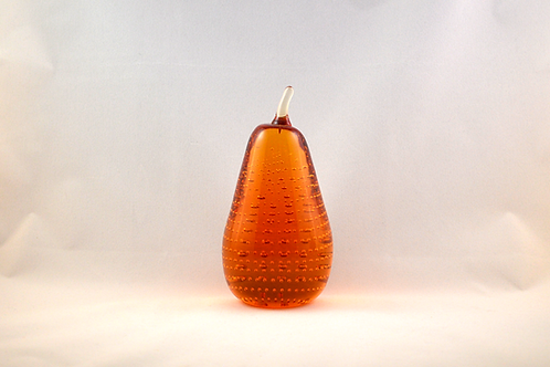 Whitefriars 1980 Art Glass Pear in Gold
