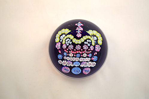 Whitefriars Pre-production Trial Jubilee Crown Paperweight