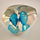 Thumbnail: UBER RARE Whitefriars Controlled Bubble Paperweight in Kingfisher Blue
