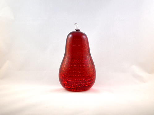 Whitefriars 1980 Ruby Red Art Glass Pear