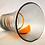 Thumbnail: Whitefriars Ribbon Trailed Vase in Tangerine on Pewter