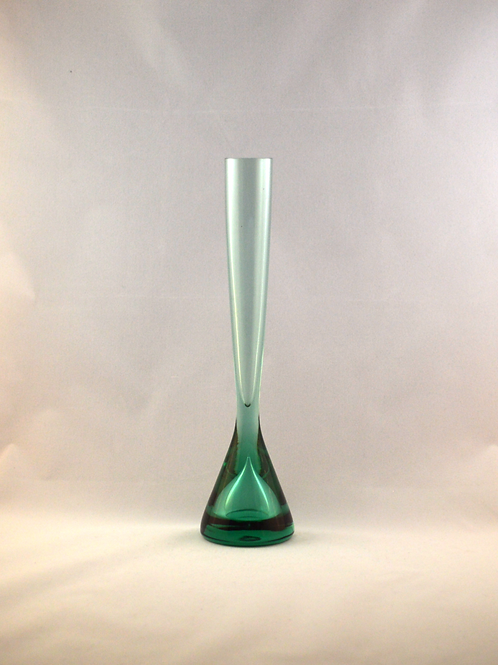 Whitefriars 1980 FLC Aqua Teardrop Vase