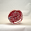 Thumbnail: Whitefriars Experimental Design Ruby Ground Garland Millefiori Paperweight